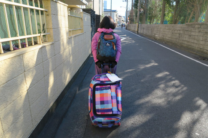 26_明日の会場へ荷物を手運びしてみた