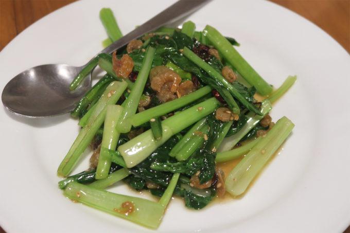 干しエビと小松菜炒め