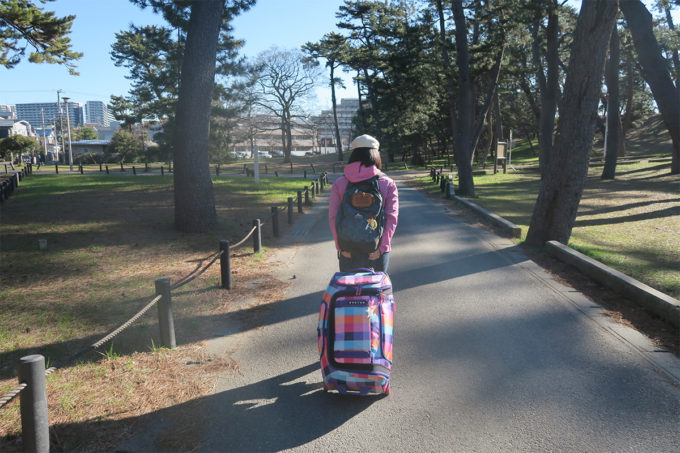 朝の稲毛公園を歩く