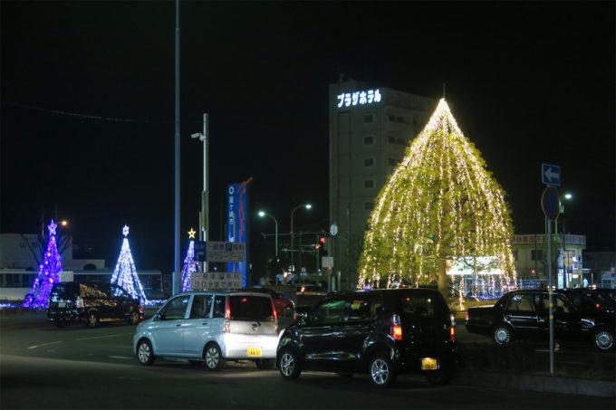 佐貫駅前のイルミネーション