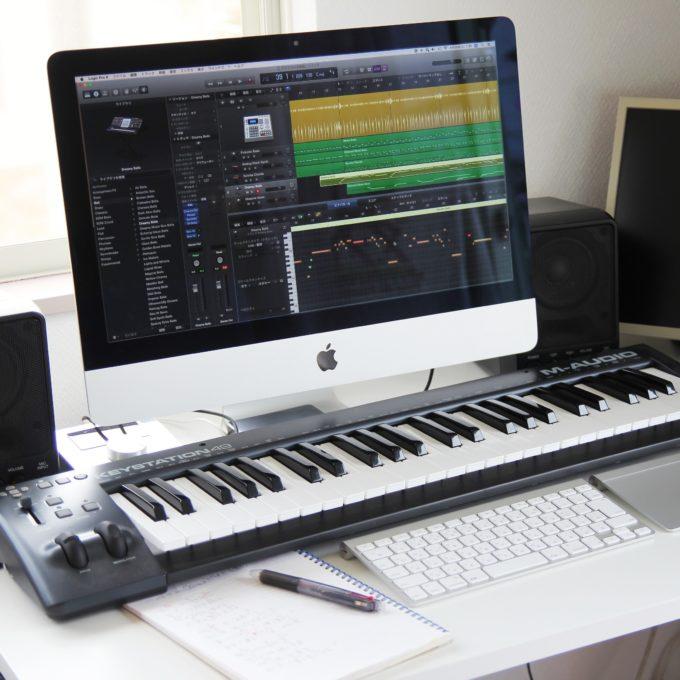 iMac+LogicProXでのデスクトップ音楽制作環境