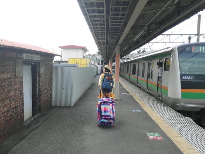 新町駅に到着