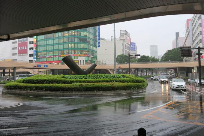 駅に戻る頃には雨が降ってきました