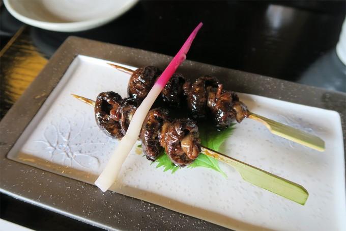 鰻の肝串焼き