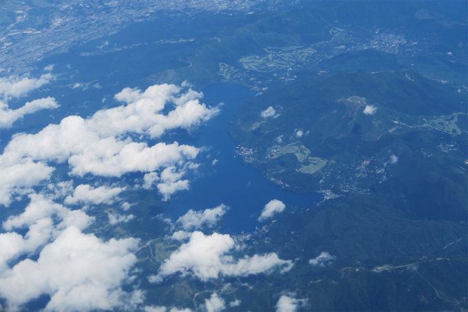 箱根の芦ノ湖発見
