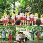 宮崎県・西都ふたば幼稚園ファミリー参観日でのコンサート☆アンコールは園庭で♪子ども達のシャボン玉の演出に感激♡