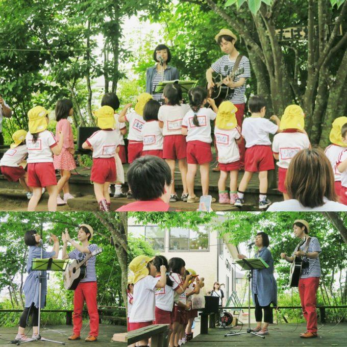 20160605_宮崎県・西都ふたば幼稚園02_園庭でアンコール公演