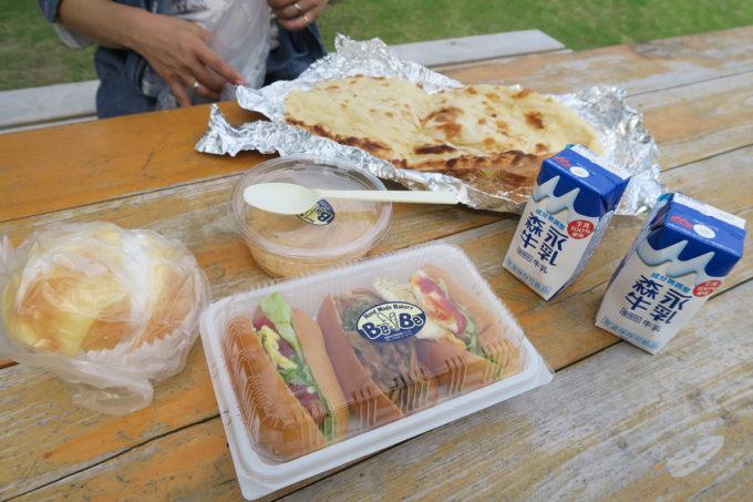 朝からピクニック