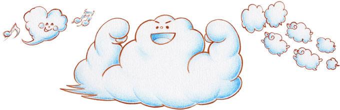 雲たち(白い雲)