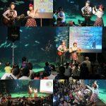 長崎県佐世保市・九十九島水族館《海きらら》の大水槽前で歌わせていただきました☆