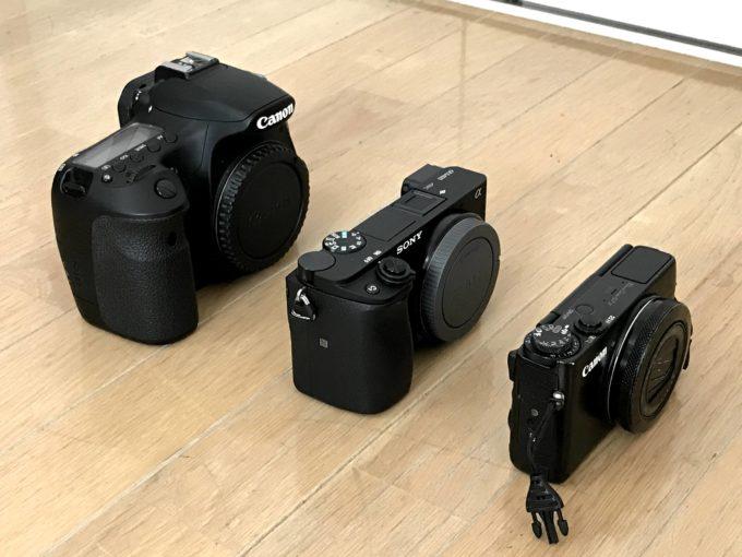 ミラーレス一眼を他のカメラと大きさ比較